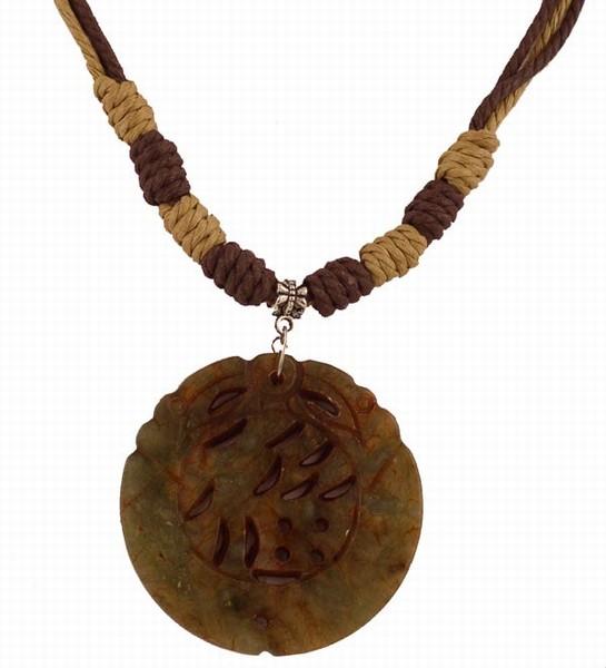 ''Stylish Natural Stone PENDANT Necklace ''''Fu'''' (Fortune)''