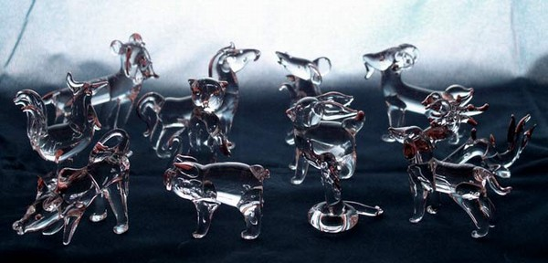 Crystal Glass Art Set Of 12 Zodiac FIGURINEs In Gift Box