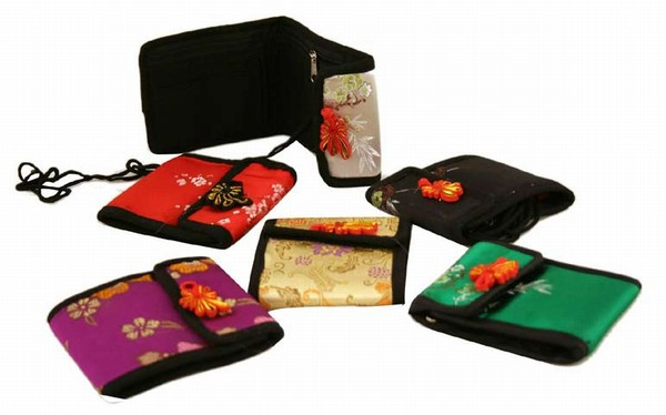 Assortment Of 6 Oriental Silk Holding WALLETs