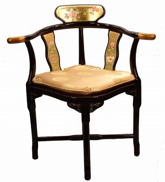 Oriental Furniture Triangle Accent CHAIR