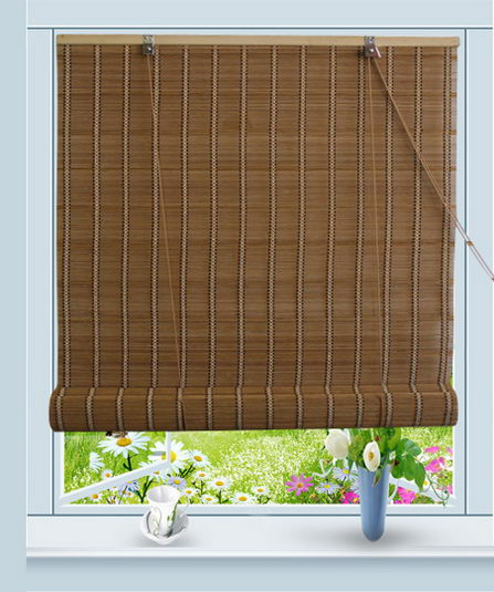 Bamboo Roll Up Window Blind Sun Shade W32 X H72